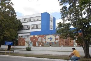 Sancti Spiritus, the so-called city of murals in Cuba